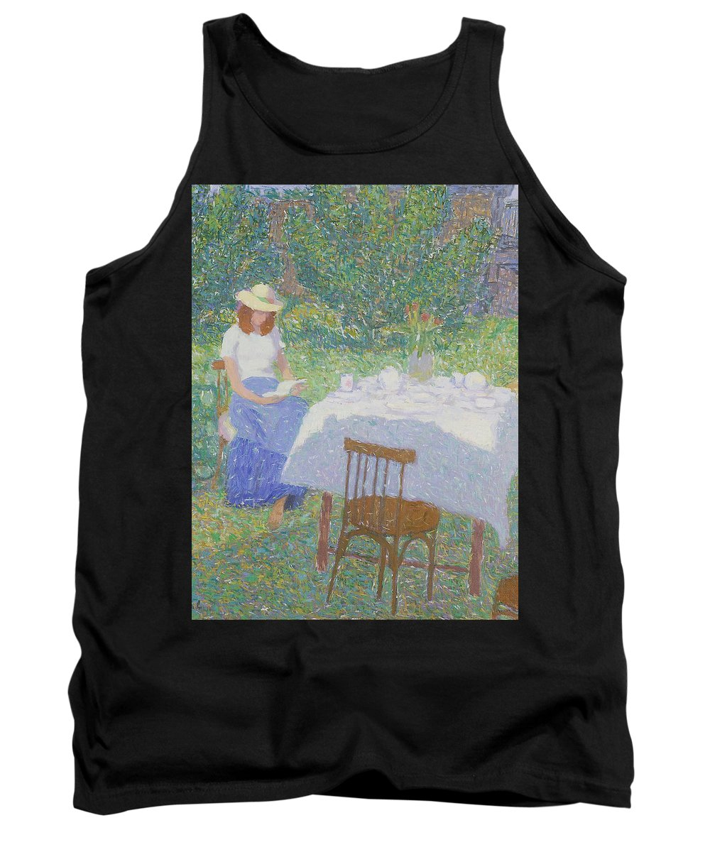 Beauty Tank Top featuring the painting Portrait by Robert Nizamov