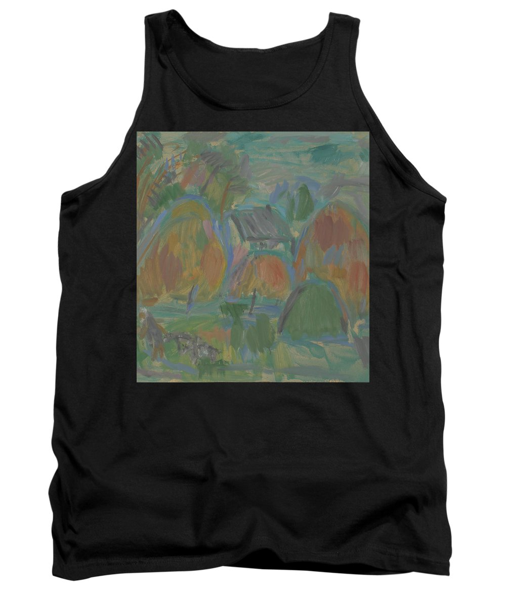 Summer Tank Top featuring the painting Haystack by Robert Nizamov