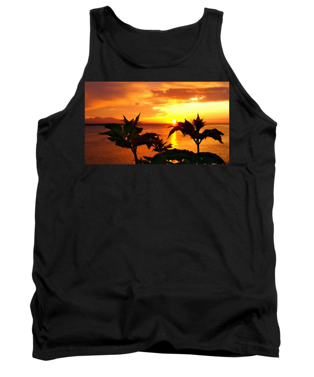 Landscape Tank Top featuring the digital art P C Landscape by Usa Map