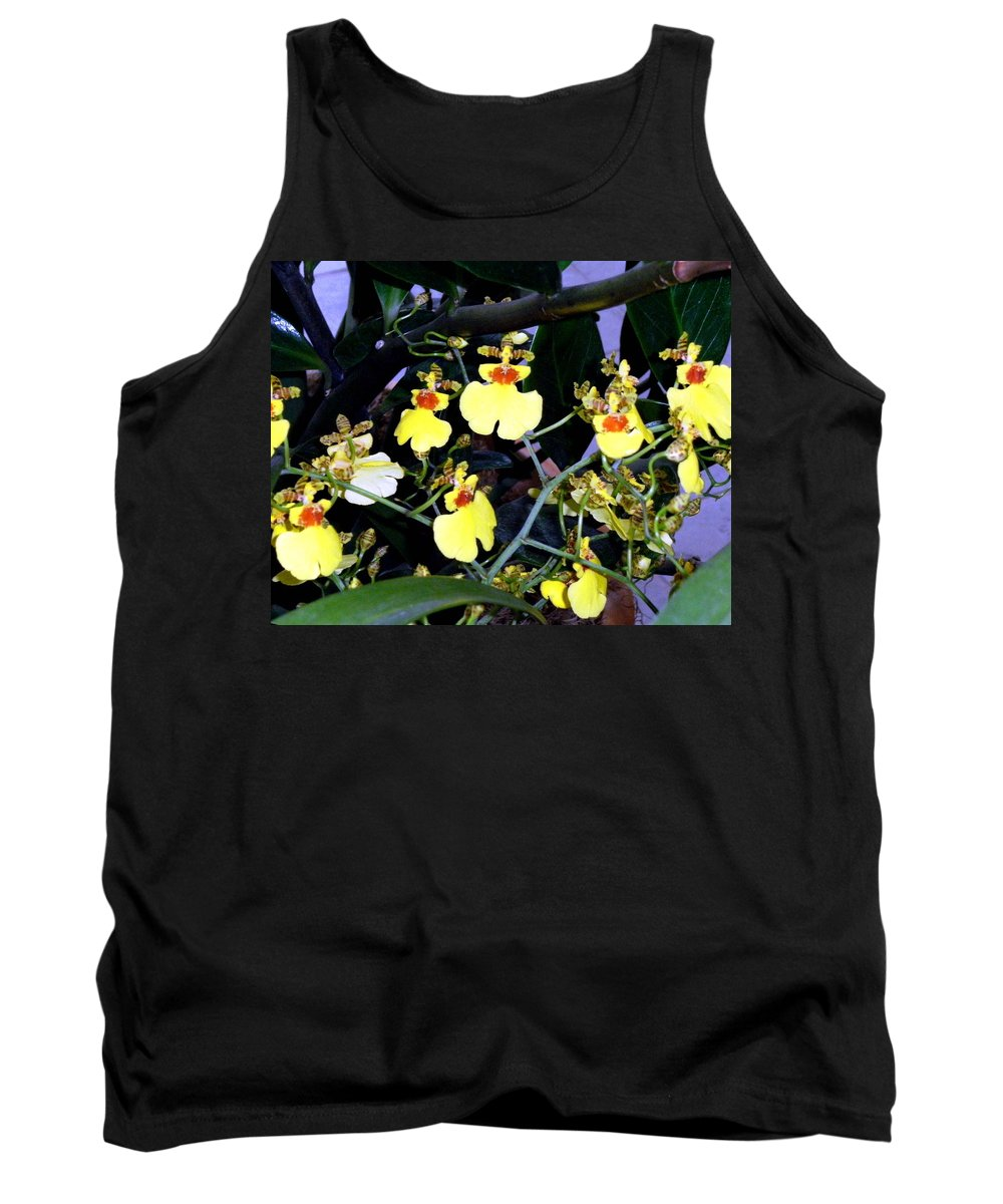 Orchids Tank Top featuring the photograph A Ballet Of Tiny Orchids by Mindy Newman