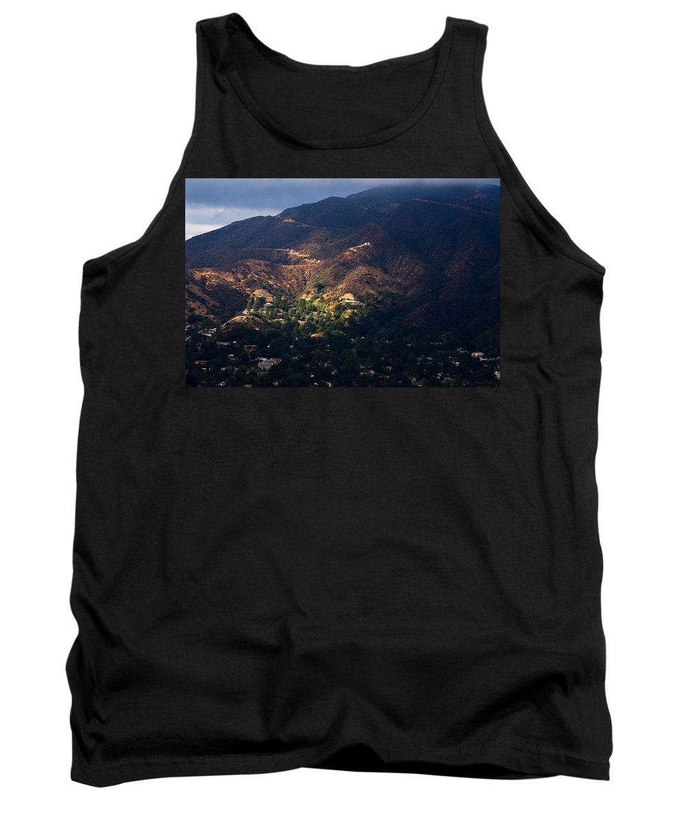 Clay Tank Top featuring the photograph A Break In The Clouds In Southern California by Clayton Bruster