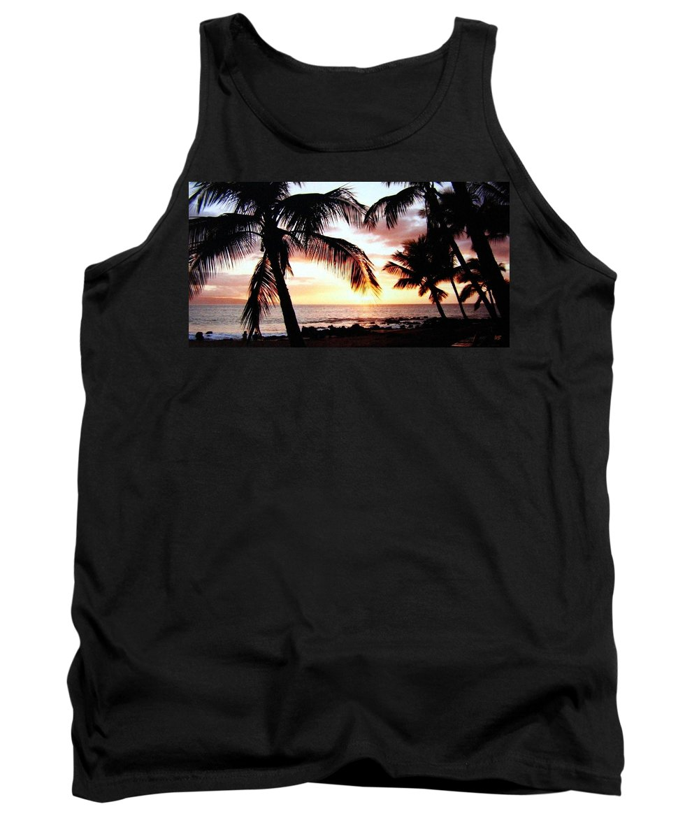 1986 Tank Top featuring the photograph A Couple On The Shore by Will Borden