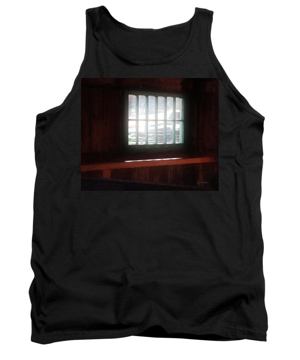 Window Tank Top featuring the painting A Dark And Fearsome Place by RC DeWinter