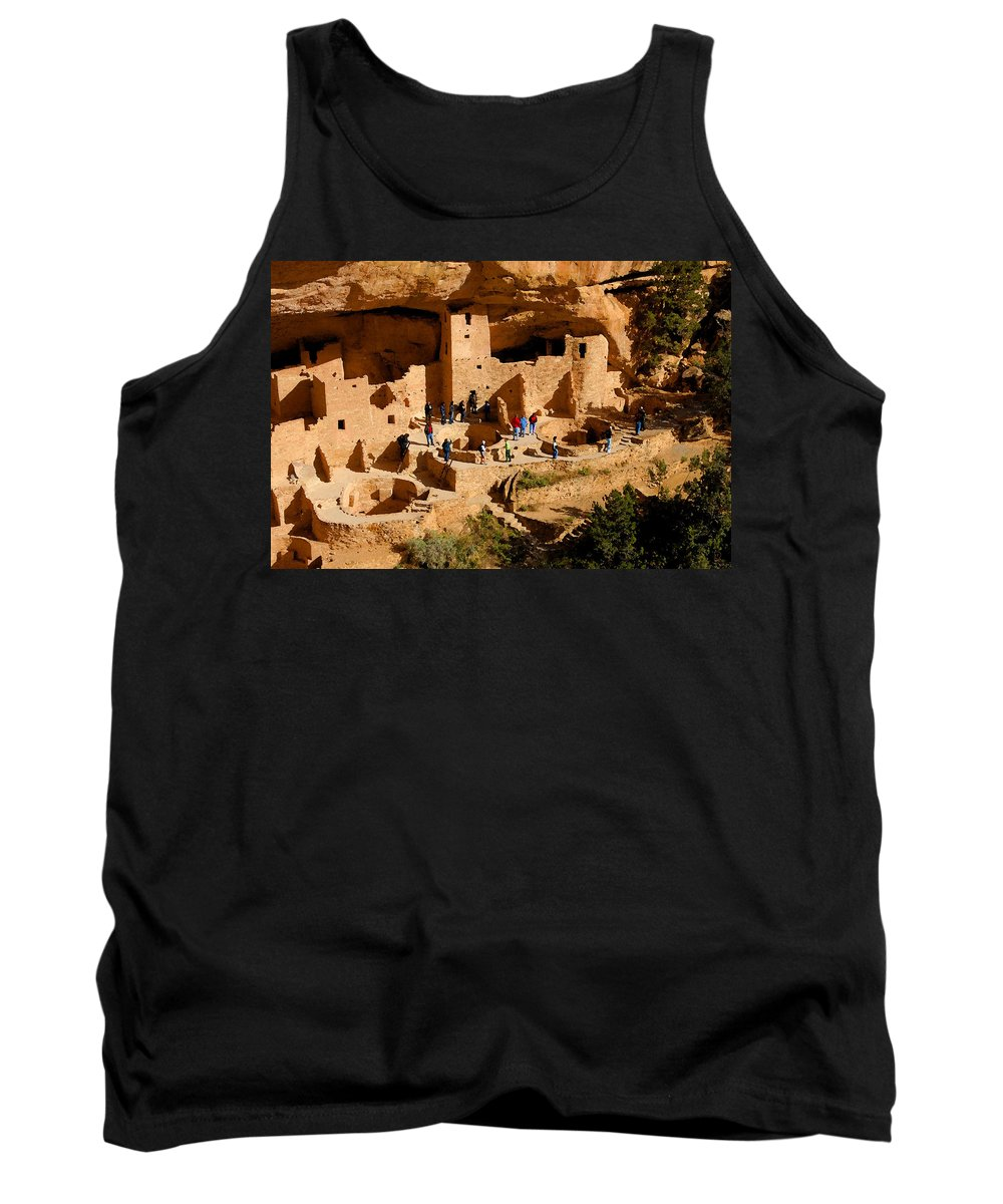 Art Tank Top featuring the painting A Day At Mesa Verde by David Lee Thompson