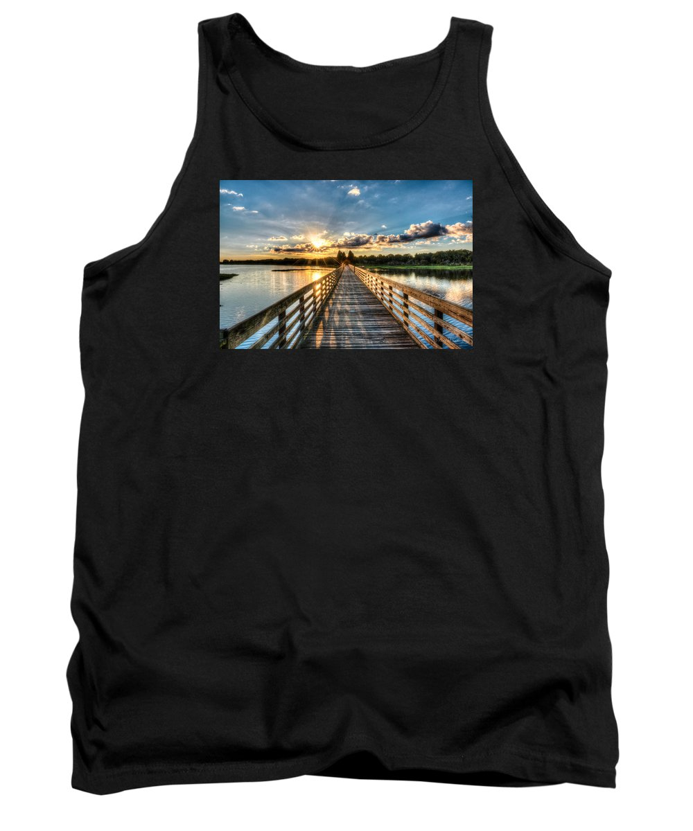 Lake Tank Top featuring the photograph A Day At The Lake by Ronald Kotinsky