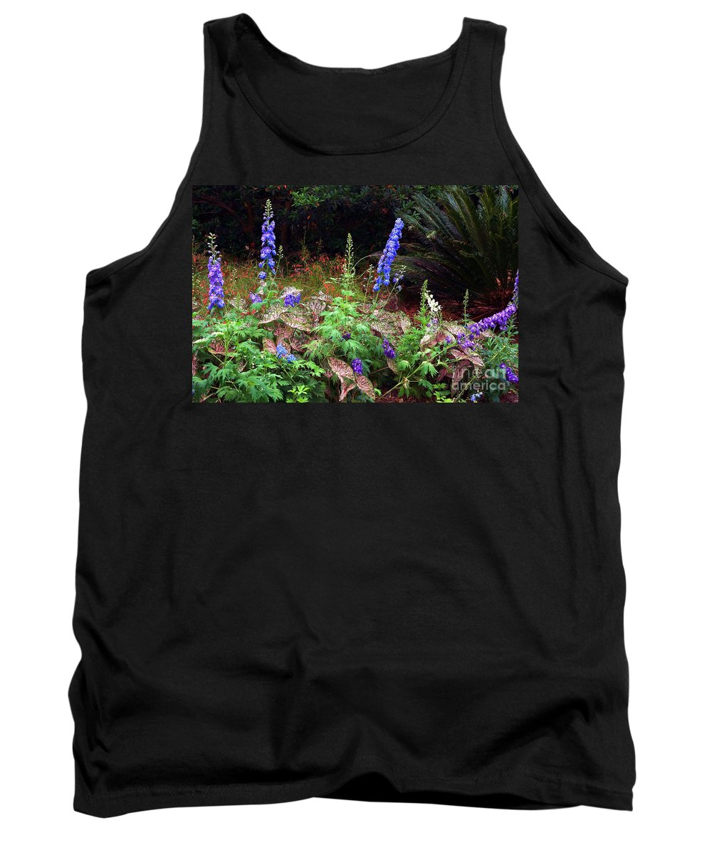 Botanical Tank Top featuring the photograph A Field Of Wildflowers by Randy Matthews