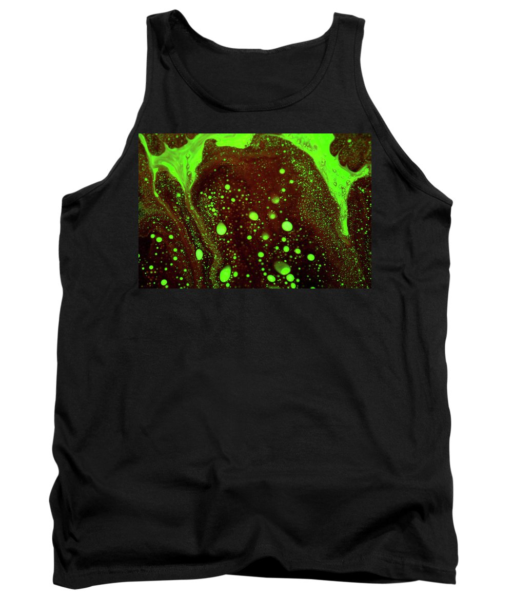 Abstract Tank Top featuring the photograph A Fine Mess by Ric Bascobert