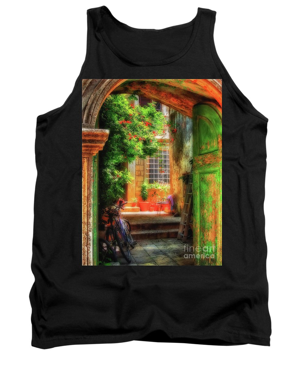 Doorway Tank Top featuring the photograph A Glimpse by Lois Bryan