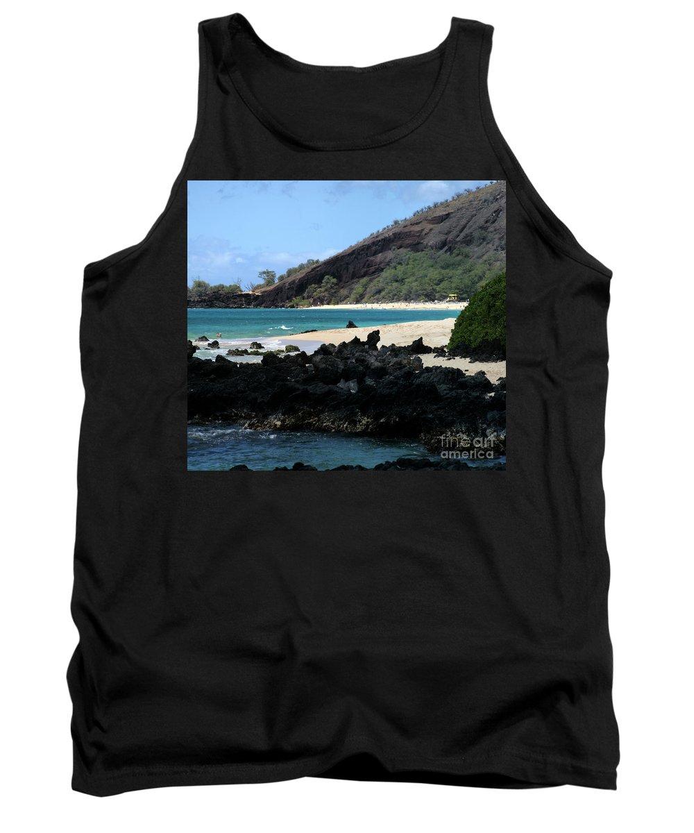 Aloha Tank Top featuring the photograph A L O H A E Ala E Puu Olai Oneloa Big Beach Makena Maui Hawaii by Sharon Mau