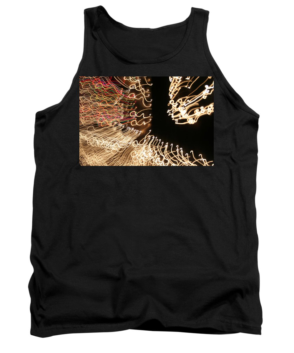 Abstract Tank Top featuring the photograph A Light Abstraction by Ric Bascobert
