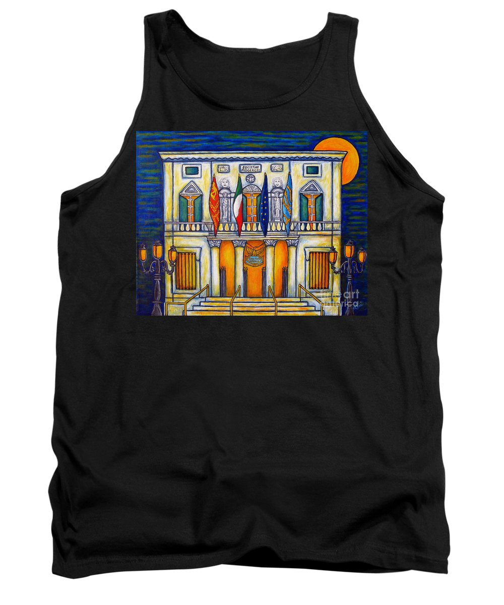 Theatre Tank Top featuring the painting A Night at the Fenice by Lisa Lorenz
