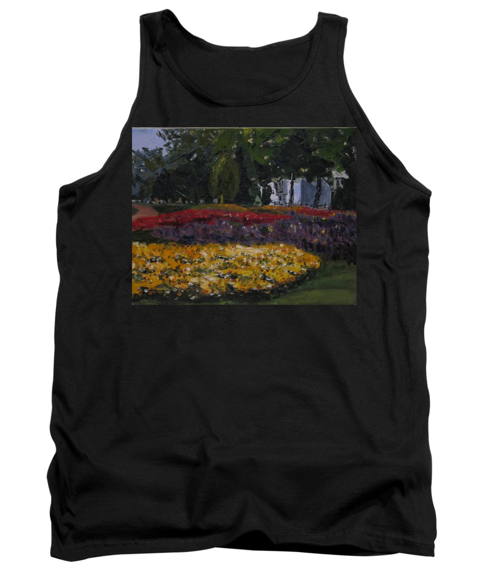 Landscape Tank Top featuring the painting A Park In Cambrige by Piety Choi