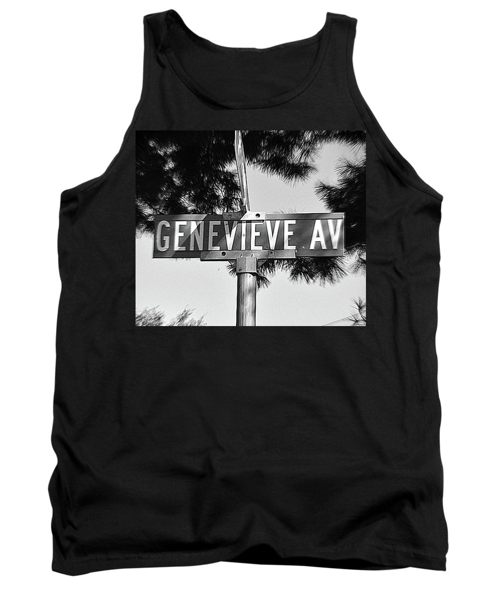 Genevieve Tank Top featuring the photograph Ge - A Street Sign Named Genevieve by Jenifer West