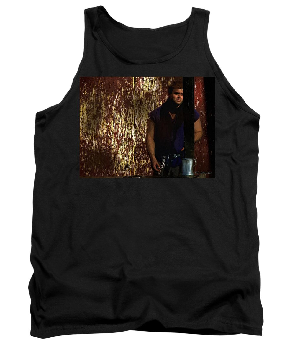 Man Tank Top featuring the painting A Tavern In Deptford by RC DeWinter