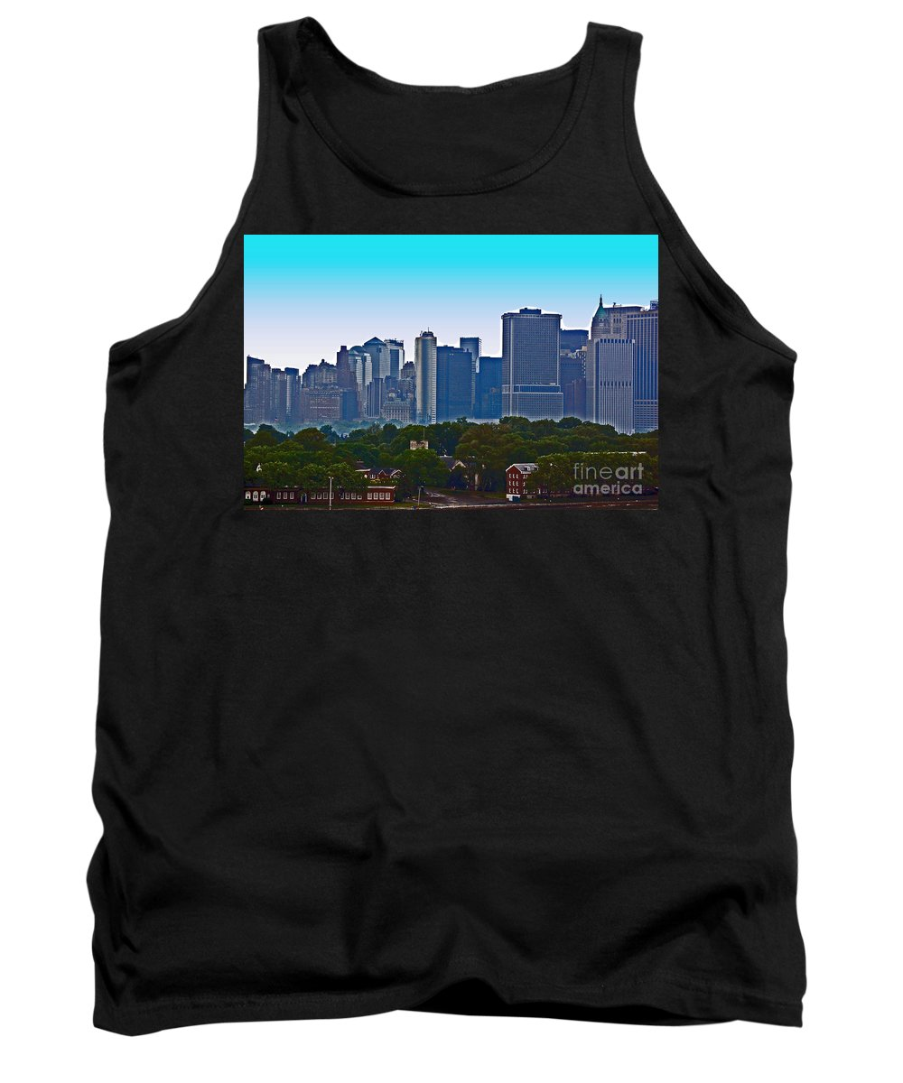 New York Tank Top featuring the photograph A Tree Grows In Brooklyn by Debbi Granruth
