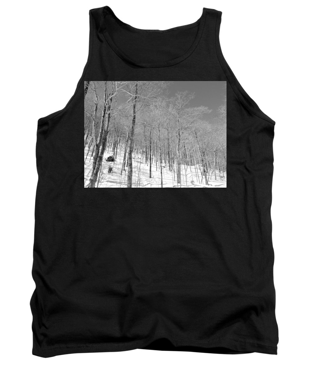 New England Tank Top featuring the photograph A View Through The Woods by Susan Russo