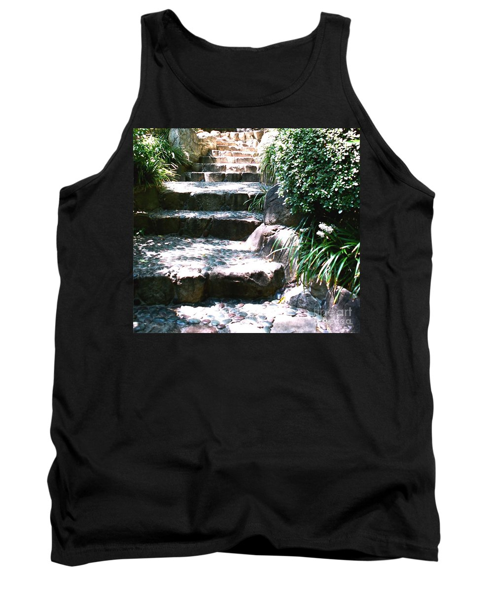 Stairs Tank Top featuring the photograph A Way Out by Dean Triolo