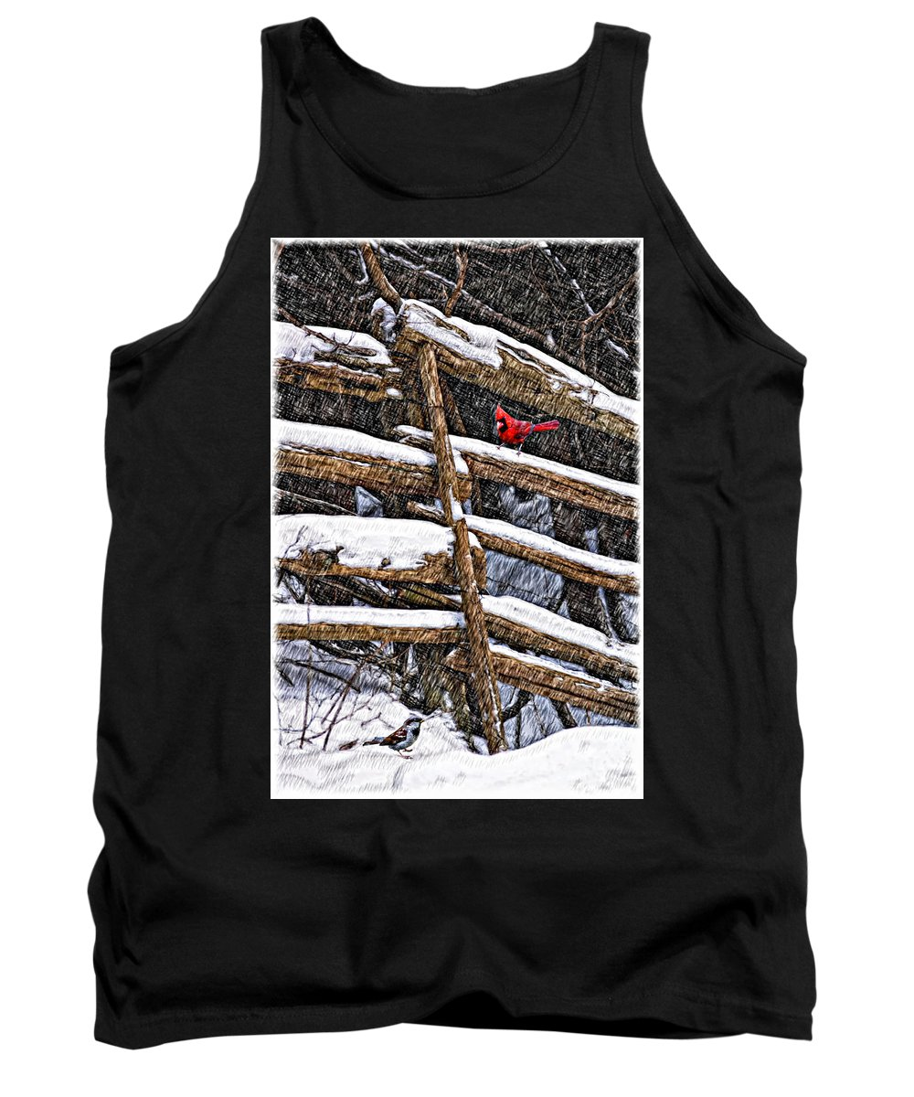 Winter Tank Top featuring the photograph A Winter Moment by Steve Harrington