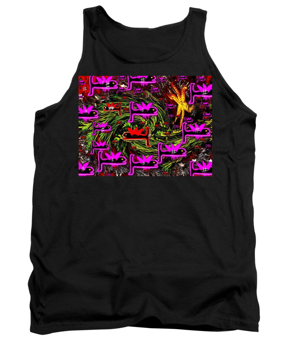 Fishes Tank Top featuring the mixed media A Wish For A Fish by Pepita Selles