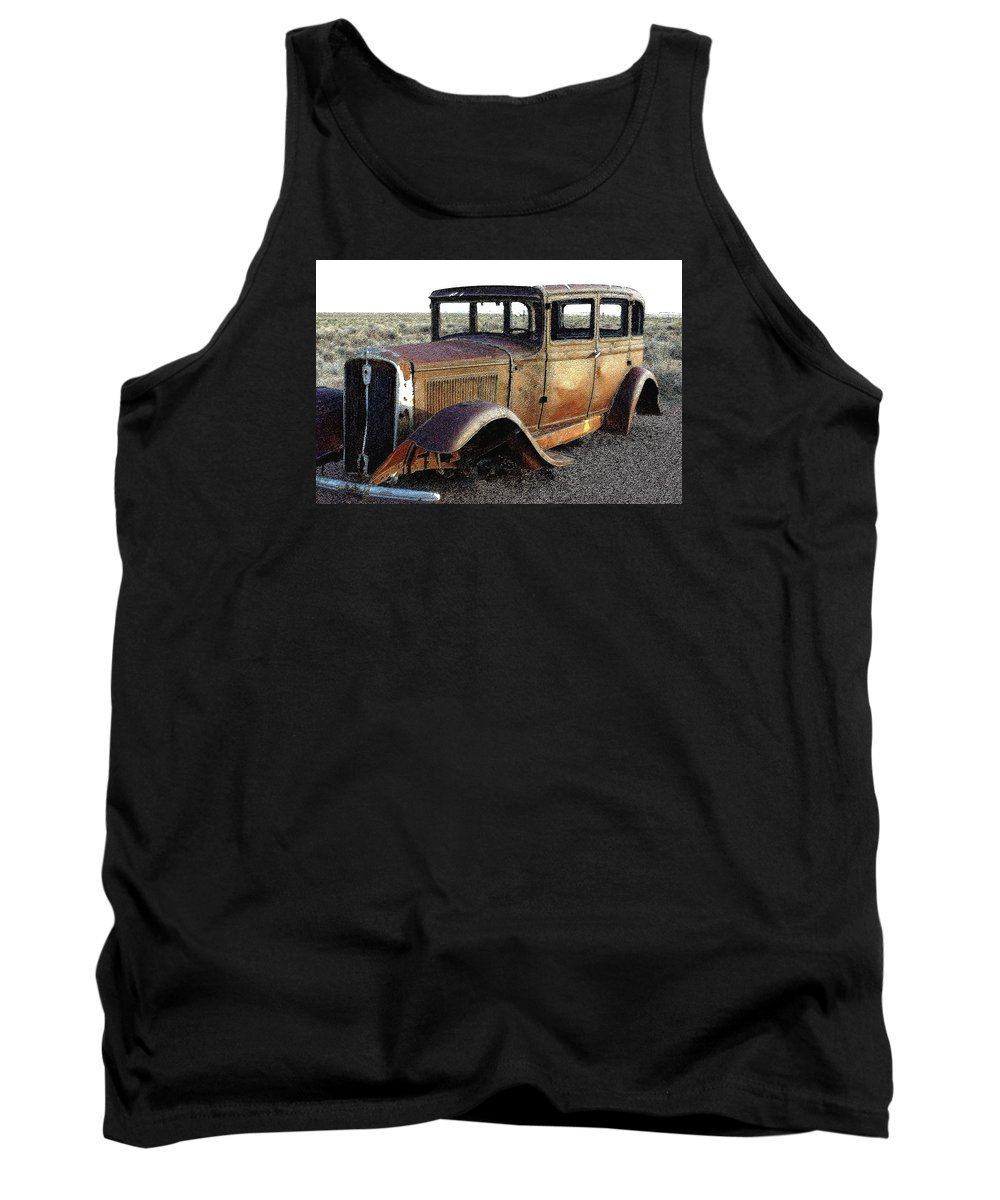 Arizona Tank Top featuring the photograph Abandonded Along Rt 66 by Nelson Strong