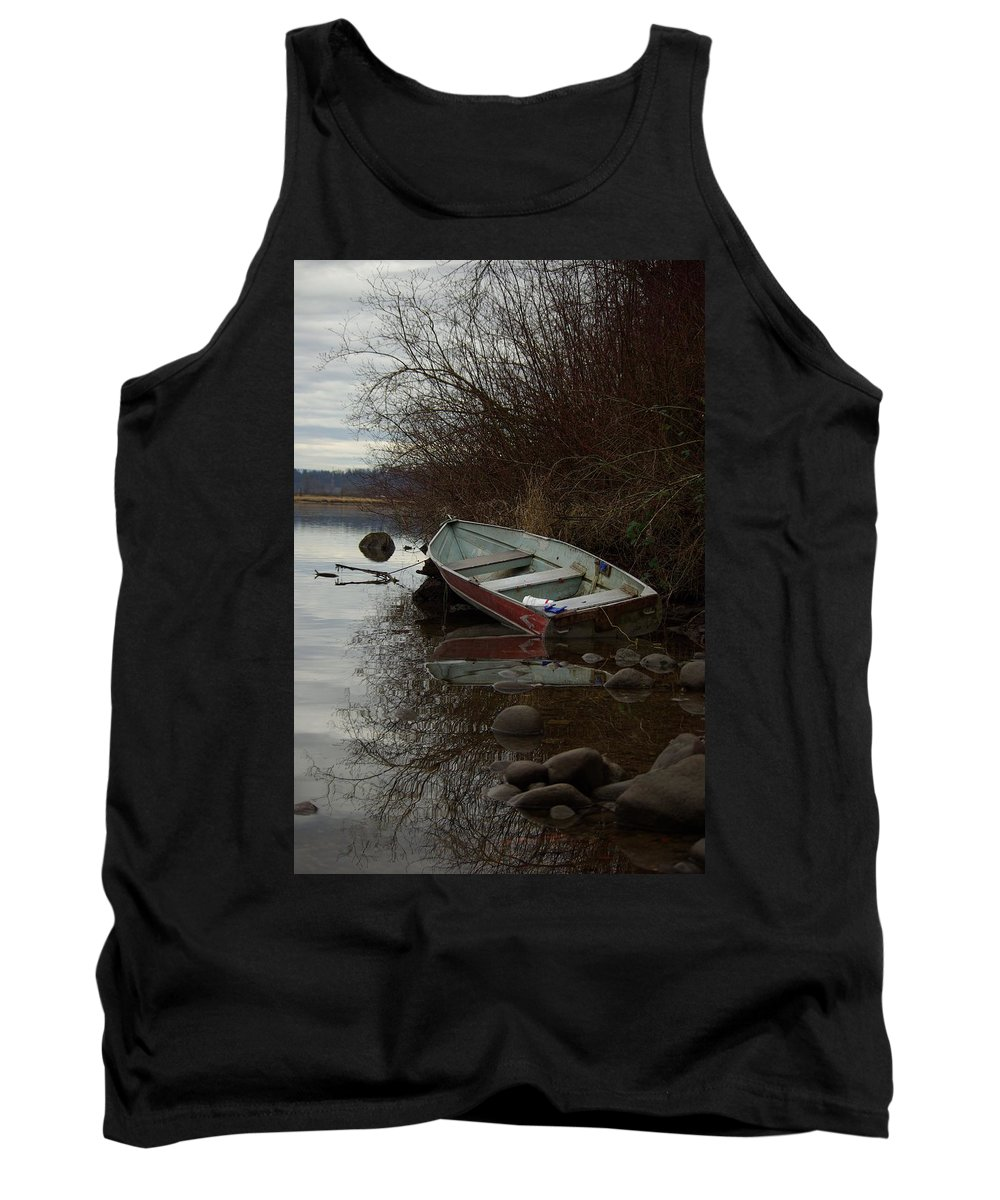Abandoned Tank Top featuring the photograph Abandoned Boat by Cindy Johnston