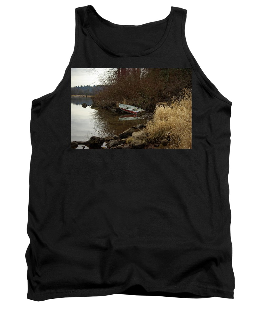 Abandoned Tank Top featuring the photograph Abandoned Boat II by Cindy Johnston