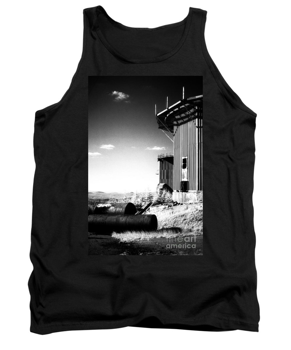 Abandoned Tank Top featuring the photograph Abandoned Radar by Richard Rizzo