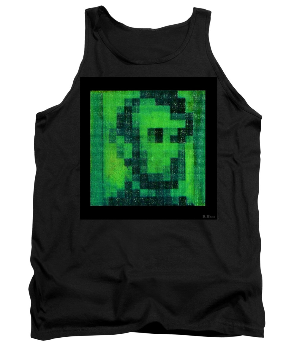 Green Tank Top featuring the photograph Abe In Green by Rob Hans