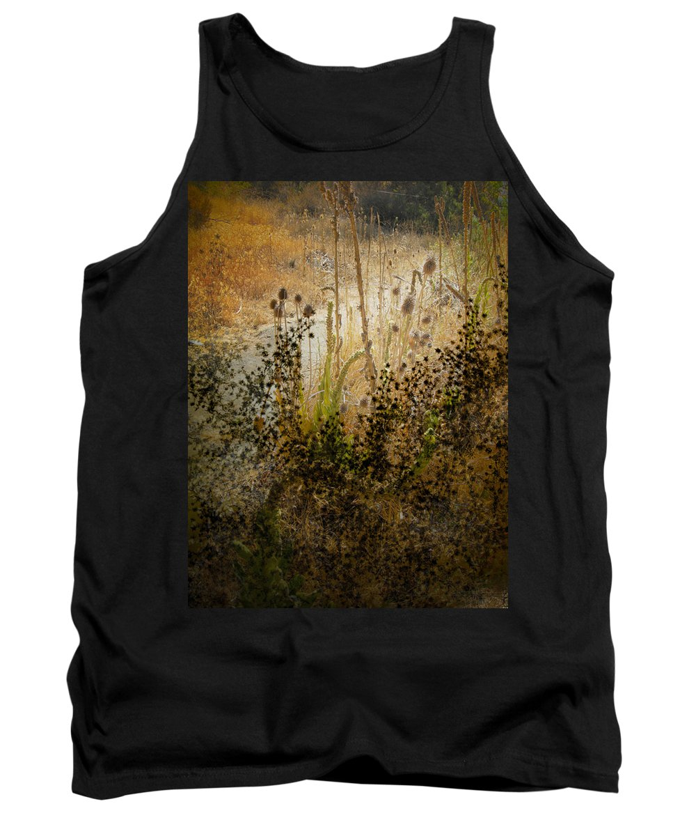 Landscape Tank Top featuring the photograph Abstract - Burning Bush by Karen W Meyer