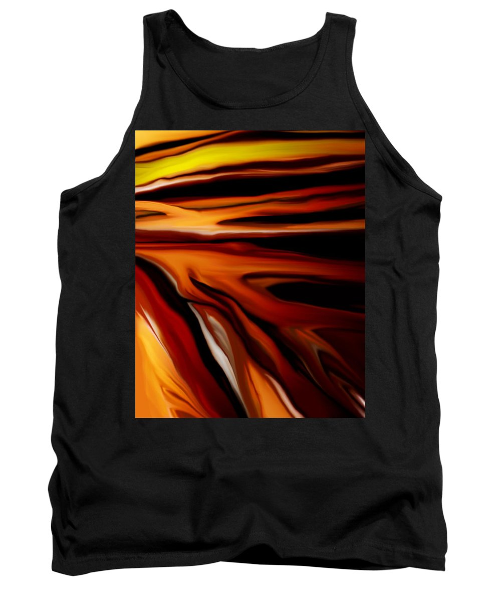 Digital Painting Tank Top featuring the digital art Abstract 02-12-10 by David Lane