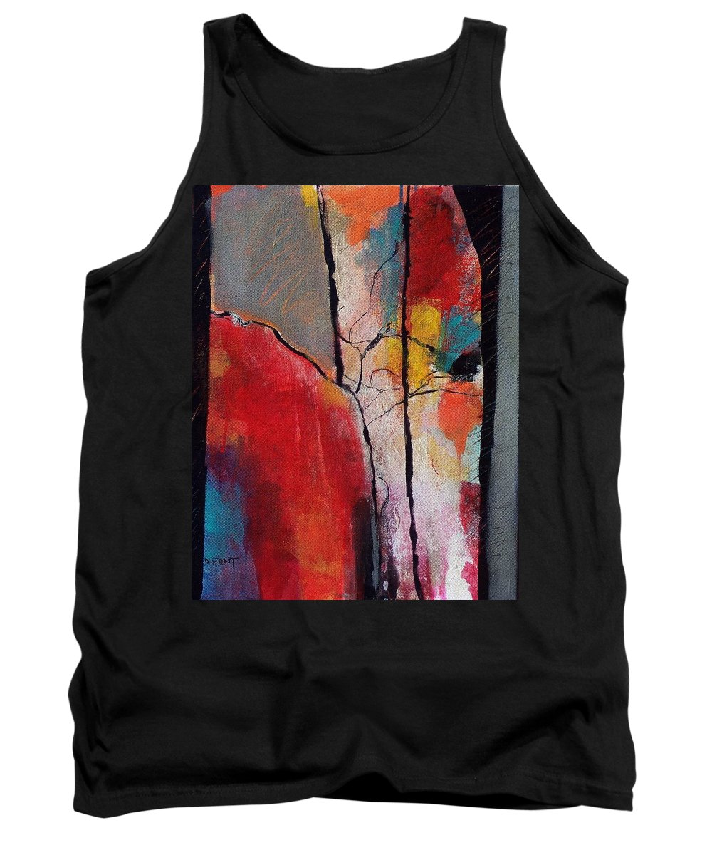 Abstract Expressionism Tank Top featuring the painting Abstract 050 by Donna Frost