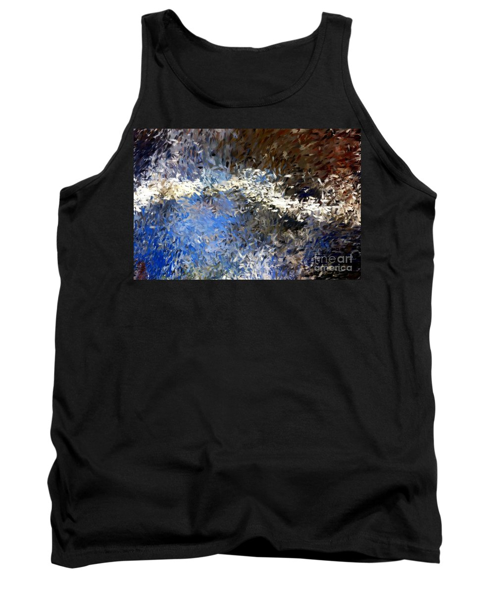 Abstract Tank Top featuring the digital art Abstract 06-03-09b by David Lane
