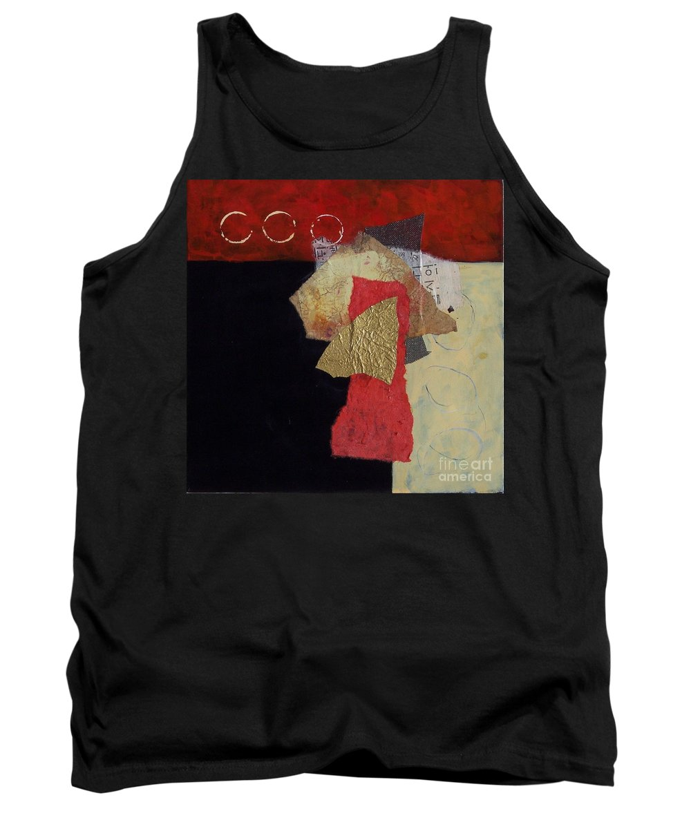 Abstract Expressionism Tank Top featuring the painting Abstract 070 by Donna Frost