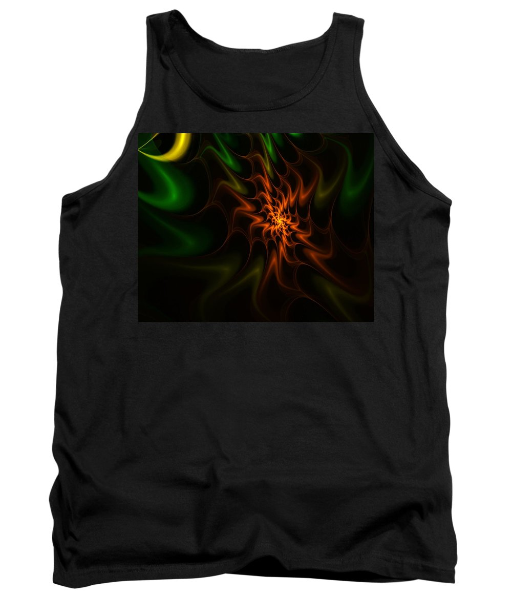 Abstract Tank Top featuring the digital art Abstract 070110 by David Lane