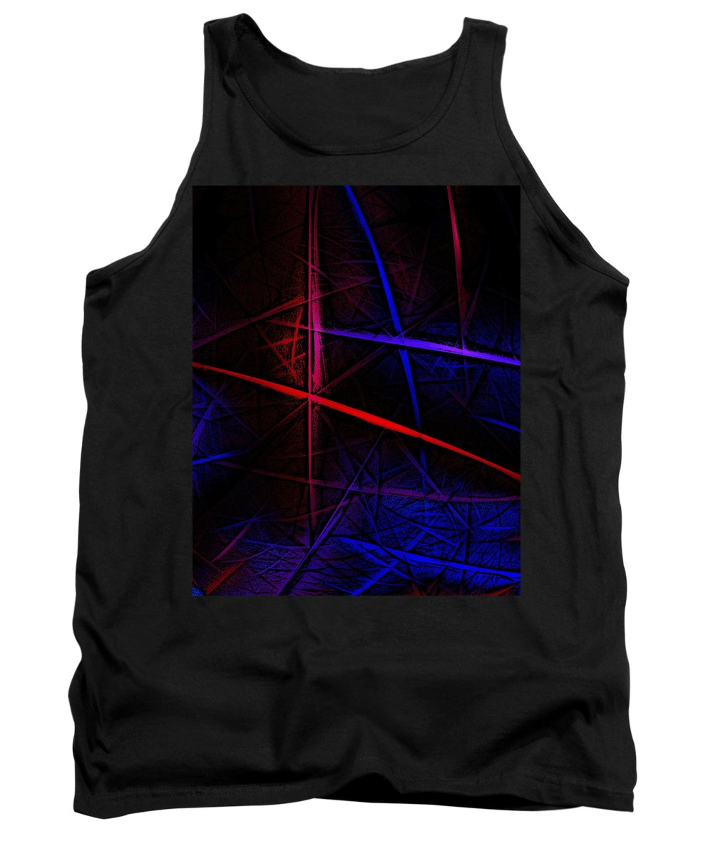 Abstract Tank Top featuring the digital art Abstract 081410 by David Lane
