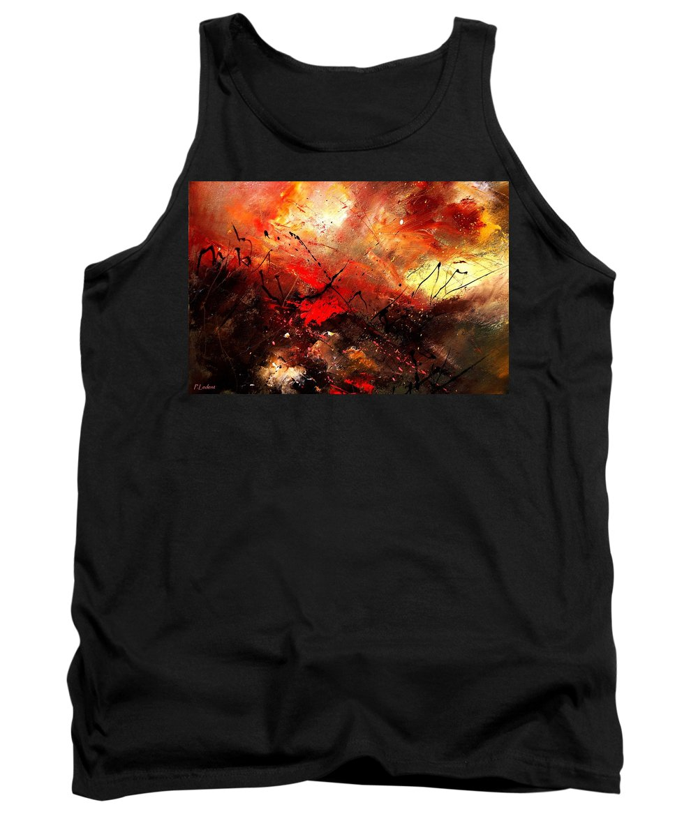 Abstract Tank Top featuring the painting Abstract 100202 by Pol Ledent