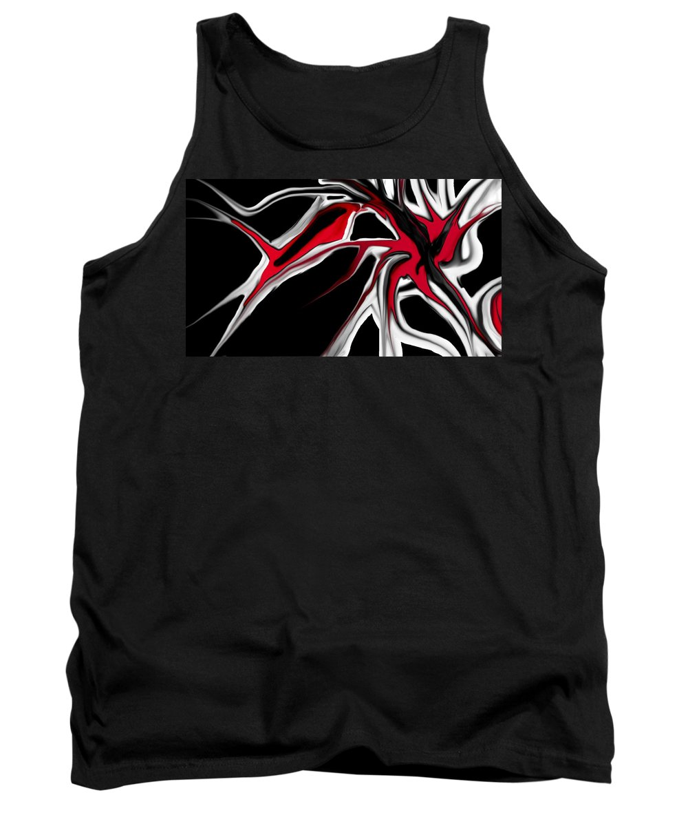 Abstract Tank Top featuring the digital art Abstract 6-14-09 by David Lane