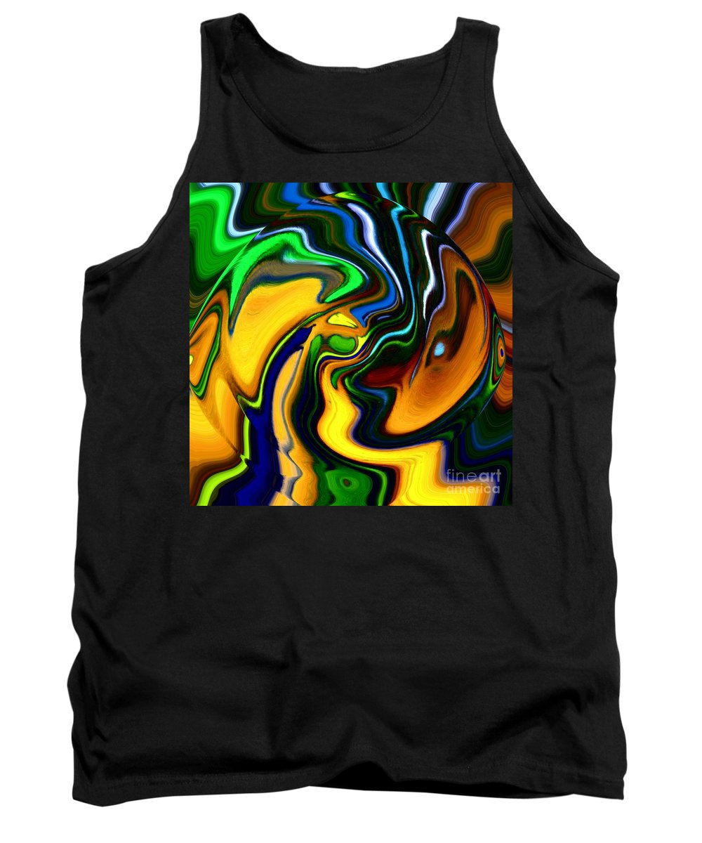 Abstract Tank Top featuring the digital art Abstract 7-10-09 by David Lane