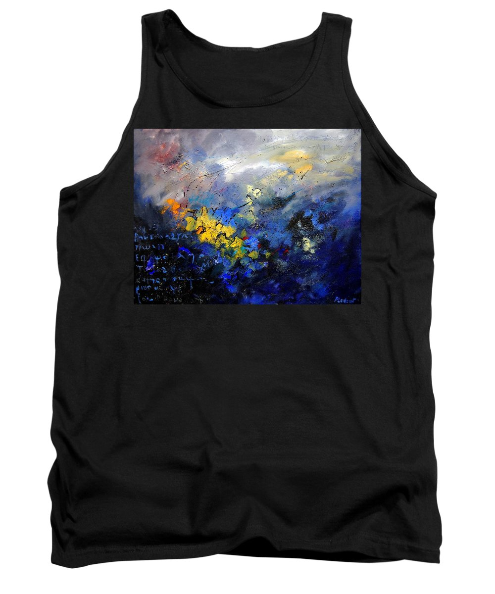 Abstract Tank Top featuring the painting Abstract 970208 by Pol Ledent