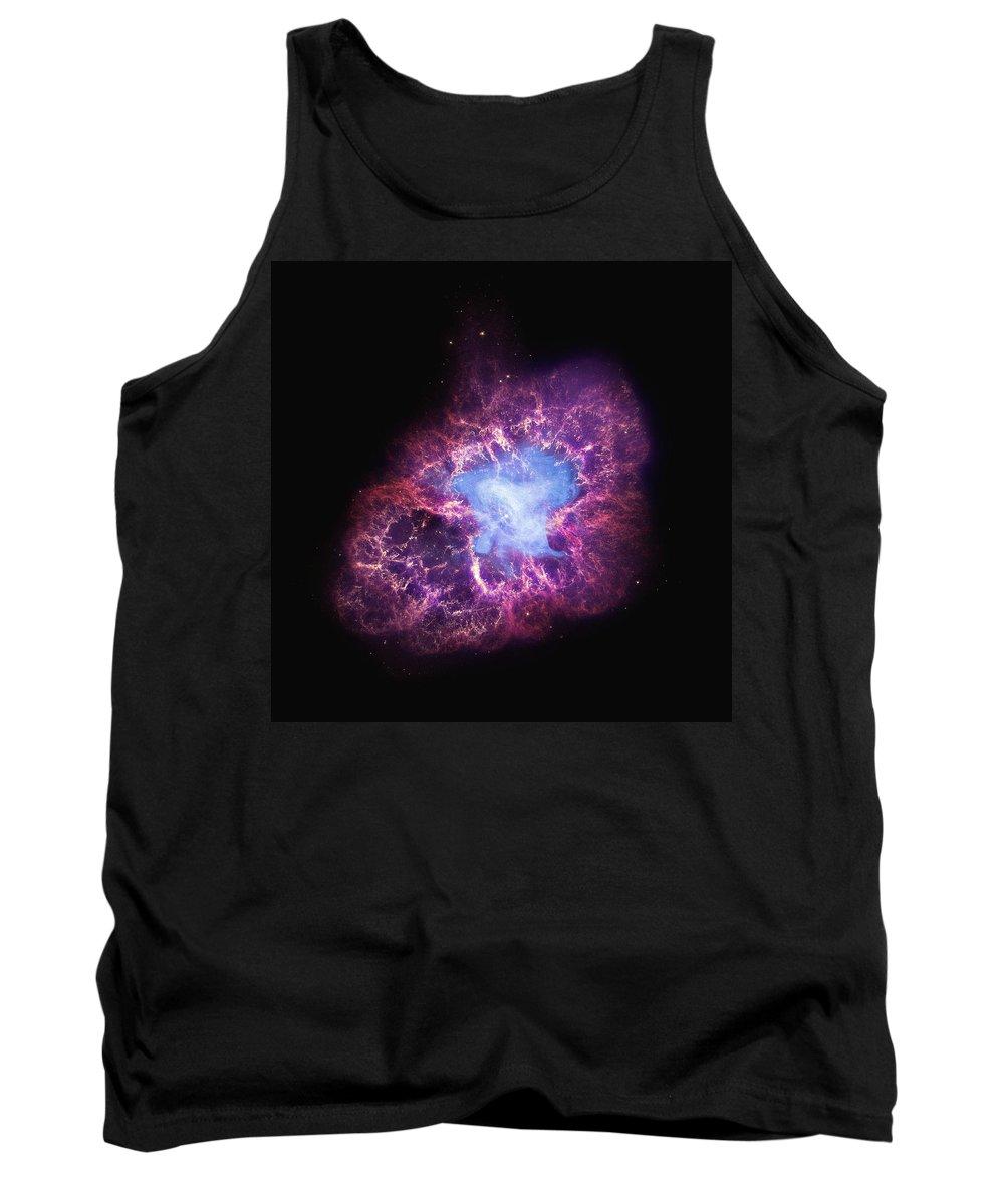 Nasa Tank Top featuring the photograph Abstract Heavenly Art - The Crab Nebula by Nasa