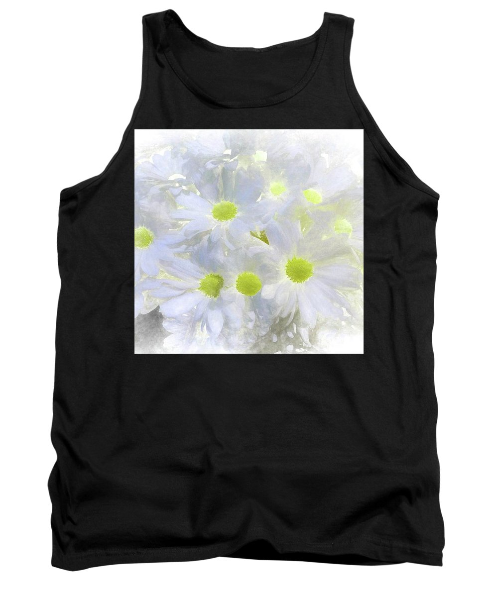 Abstract Tank Top featuring the photograph Abstract Daisy Boquet by Robert Kinser