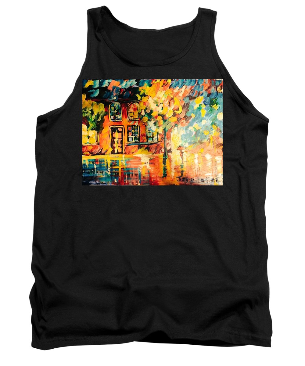 Abstract Expression For Sale Tank Top featuring the painting Abstract Expressionism by Janelle Dey