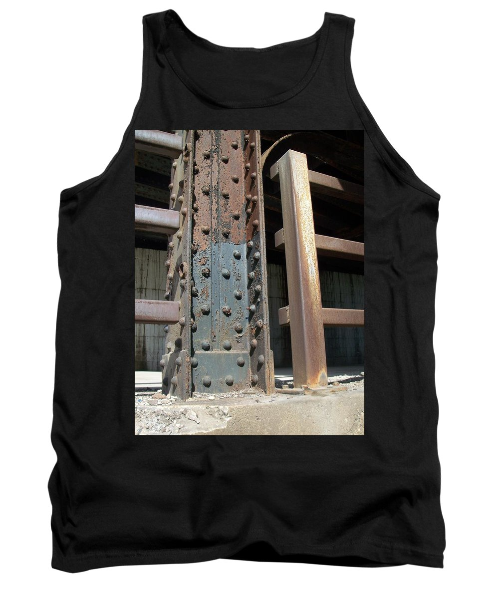 Urban Tank Top featuring the photograph Abstract Rust 1 by Anita Burgermeister