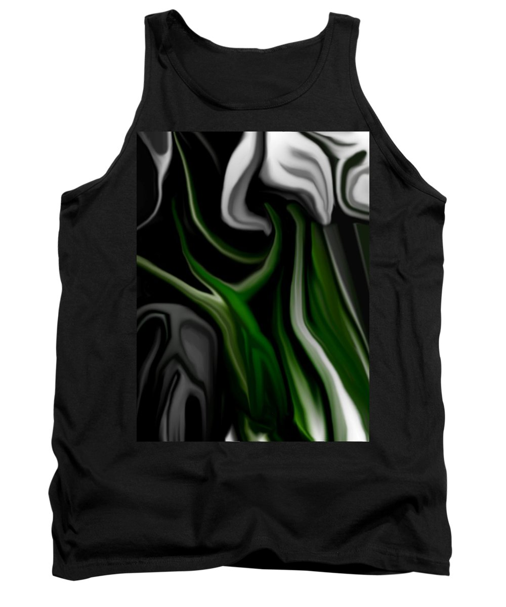 Abstract Tank Top featuring the digital art Abstract309h by David Lane