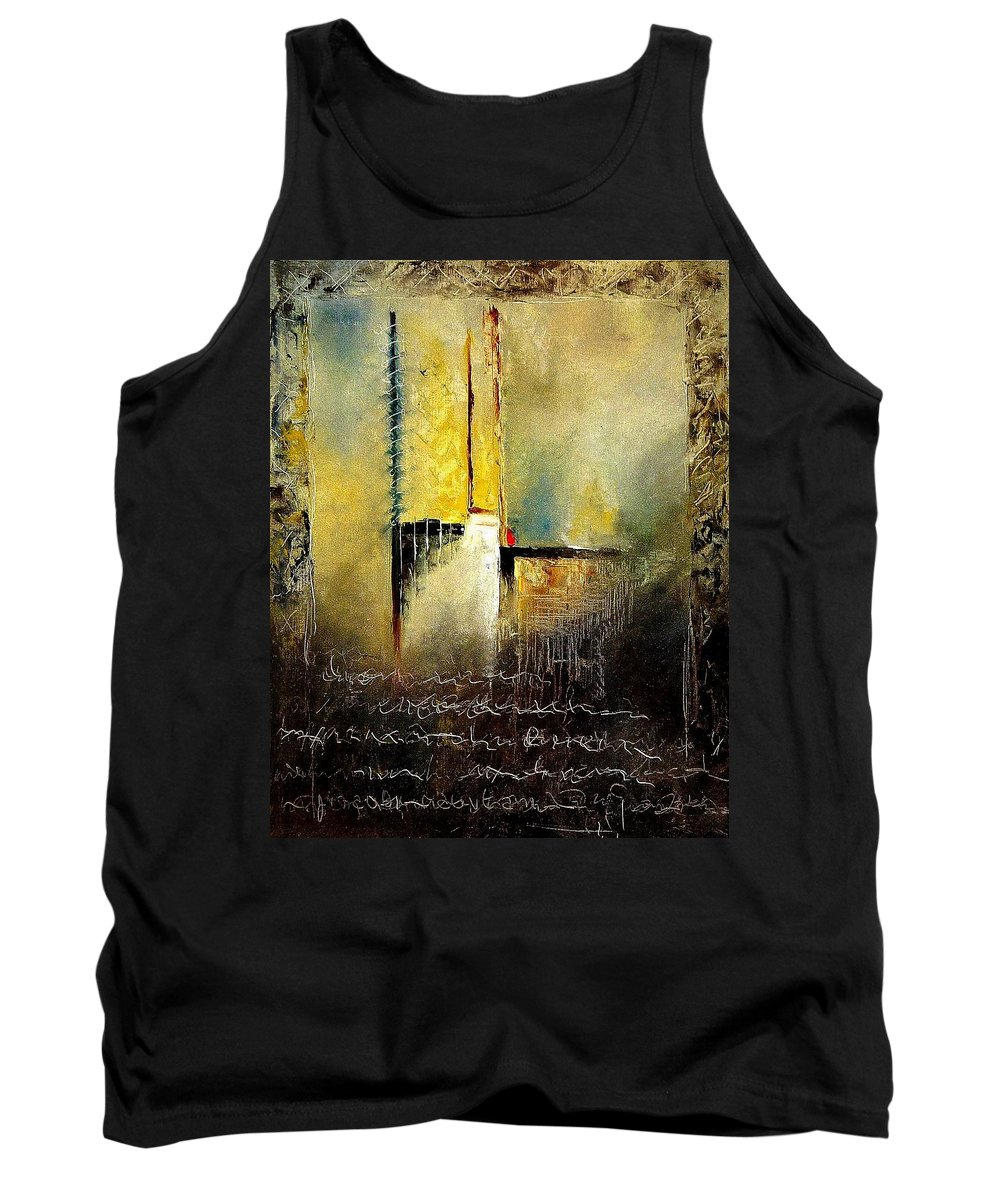 Abstract Tank Top featuring the painting Abstrct 3 by Pol Ledent