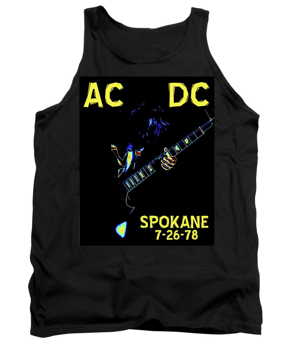 Ac Dc Tank Top featuring the photograph Ac Dc Rocks 2 by Ben Upham