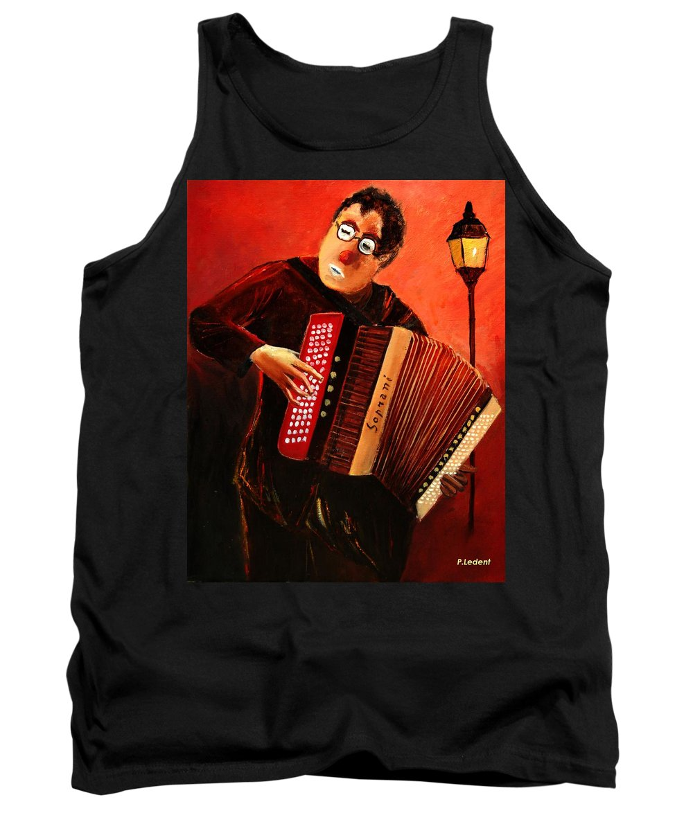 Music Tank Top featuring the print Accordeon by Pol Ledent