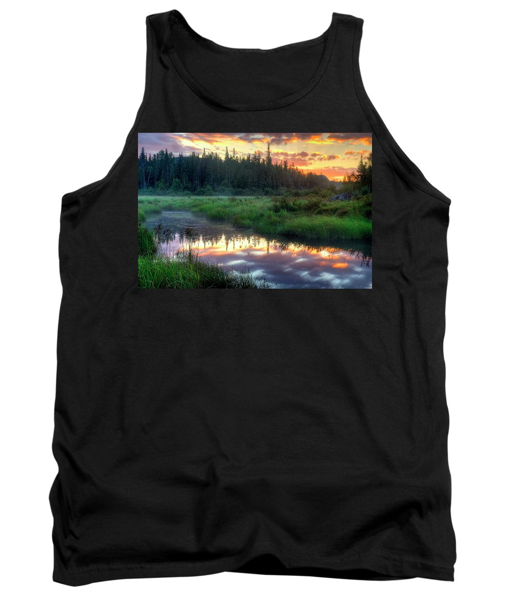 Adirondack Sunrise Tank Top featuring the photograph Adirondack Sunrise by Tony Beaver
