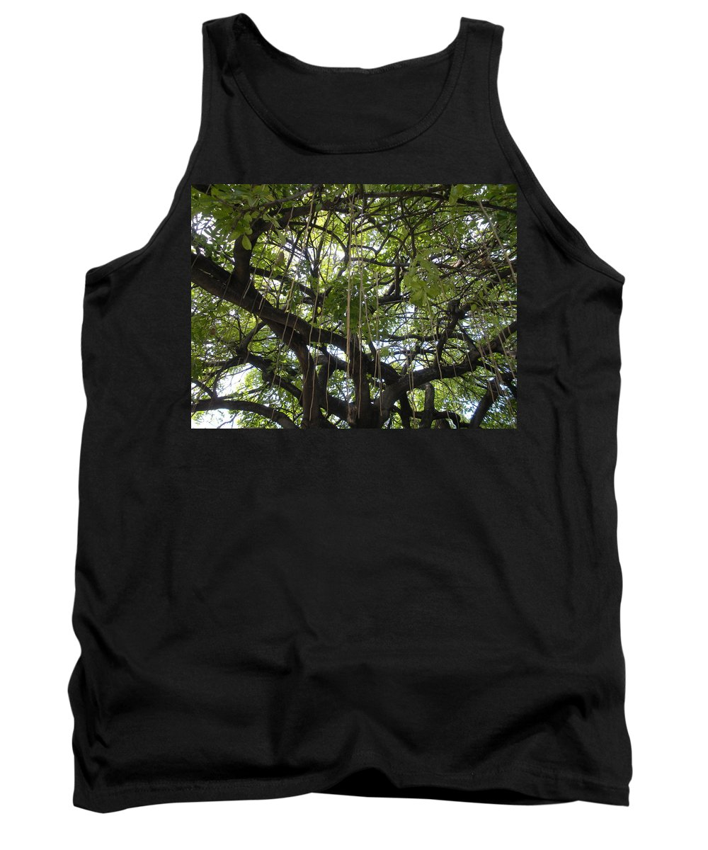 Trees Tank Top featuring the photograph Aerial Network I by Maria Bonnier-Perez