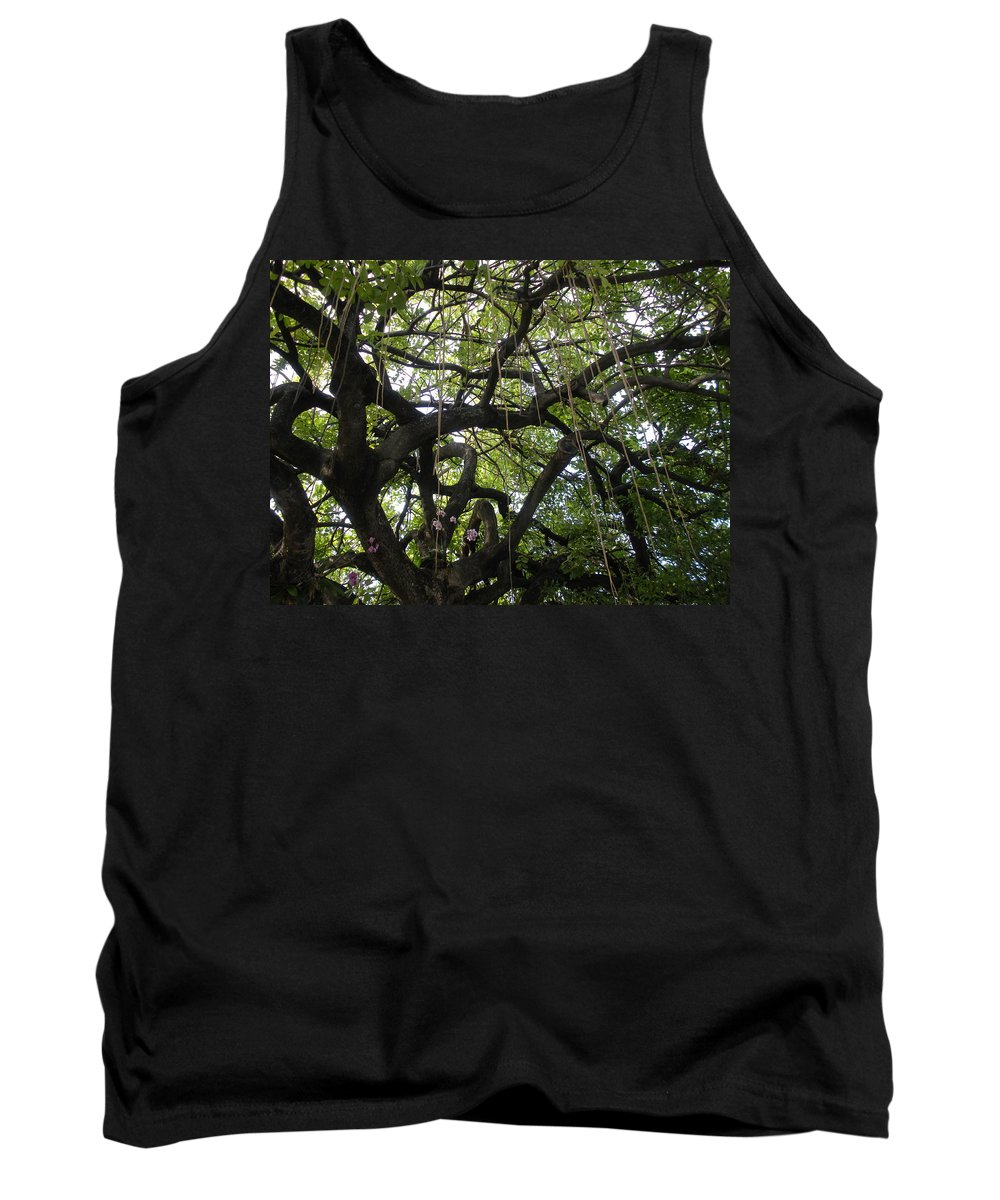 Trees Tank Top featuring the photograph Aerial Network II by Maria Bonnier-Perez
